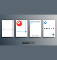 blank minimal design background templates set vector image vector image