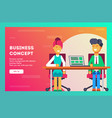 business concept two businessmen at a meeting vector image vector image