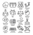 business management line icons pack 34 vector image vector image