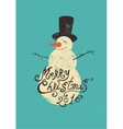 Calligraphic retro Christmas greeting card vector image