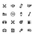 Car service icon set vector image