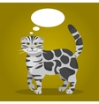 Cat with thought bubbles vector image