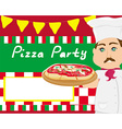 chef with pizza - Abstract card with space for vector image