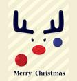 christmas deer hipster vector image