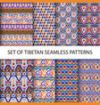 collection of colorful pixel patterns vector image vector image