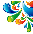 Color water drops design background vector image