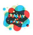 creative text colored rainbow concept with shape vector image
