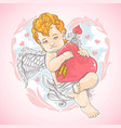 cupid valentine love heart vector image