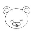 cute sketch draw beaver cartoon vector image vector image
