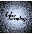 Cyber Monday Silver Poster vector image vector image
