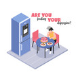 depression isometric concept vector image vector image
