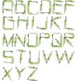 detailed tech alphabet vector image vector image
