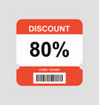 discount coupon flyer sticker or banner vector image vector image