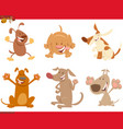 dogs or puppies cartoon characters set vector image vector image