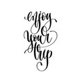 enjoy your trip - hand lettering text positive vector image vector image