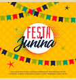 festa junina brazilian greeting background vector image vector image