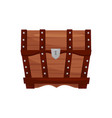 flat icon of antique wooden chest with vector image vector image