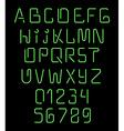Font neon Realistic brilliant fluorescent font for vector image vector image