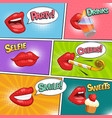 funny party comic page vector image vector image