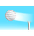 golf ball in the sky vector image vector image