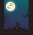 halloween vertical background with bats haunted vector image vector image