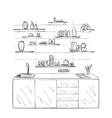 Hand drawn kitchen vector image vector image