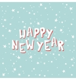 Happy New Year on a light blue background with vector image