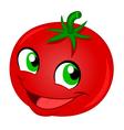 happy tomato vector image vector image
