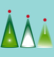 image of christmas trees vector image