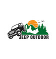 jeep car logo design vector image vector image