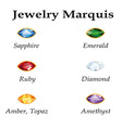 Jewelry Marquis Isolated Objects vector image vector image