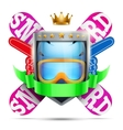 Label for winter sport club or event Bright vector image vector image