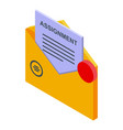 mail assignment icon isometric style