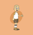 male cartoon character thumb up gesture vector image vector image