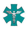 medicine sign vector image vector image
