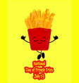 national french fry day bucket with french fries vector image vector image