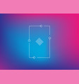 neon gradient ui ux background trendy web color vector image