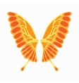 Orange butterfly wings icon cartoon style vector image