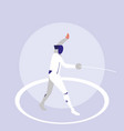 person practicing fencing avatar character vector image vector image