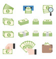 pile of cash vector image vector image