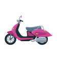 pink scooter retro motor bike vehicle side view vector image vector image