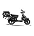 pizza delivery motorbike vector image