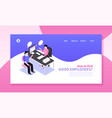 recruitment horizontal website banner vector image vector image