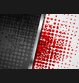 red black abstract grunge tech background with vector image vector image