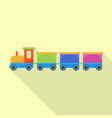 retro toy train icon flat style vector image vector image