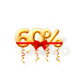 sale 60 off ballon number on white background vector image