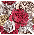 seamless wallpaper pattern with roses in vintage vector image