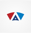 shape star america logo vector image vector image