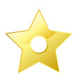 shiny bright five-pointed star flat vector image vector image