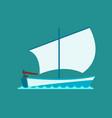 ship cruiser boat sea symbol vessel travel vector image vector image